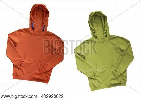 Sweatshirt With Hood Isolated On White Background