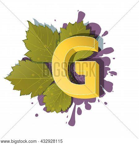 Autumn 3D Pop Art Alphabet - Colorful Bold Letter G