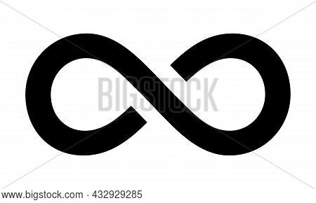 Infinity Icon. Unlimited, Limitless Symbol, Sign Isolated On White