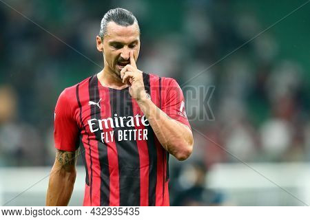 Milano, Italy. 12 September 2021. Zlatan Ibrahimovic Of Ac Milan  During The Serie A Match Between A