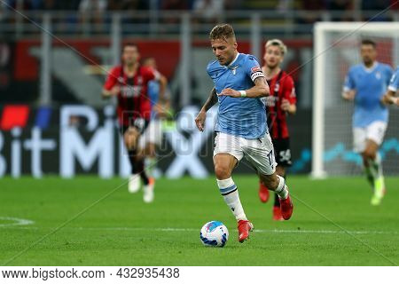 Milano, Italy. 12 September 2021. Ciro Immobile Of Ss Lazio  During The Serie A Match Between Ac Mil