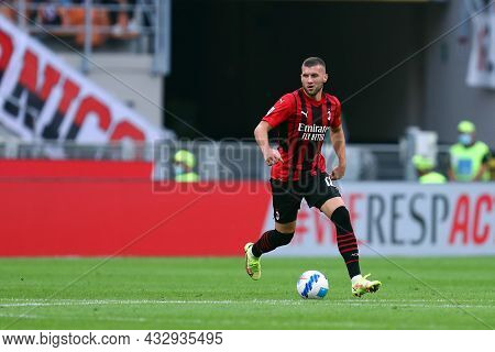 Milano, Italy. 12 September 2021. Ante Rebic Of Ac Milan  During The Serie A Match Between Ac Milan