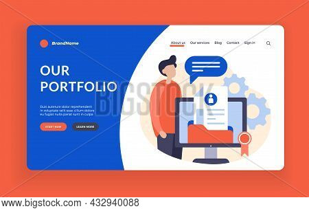 Creation Of Web Portfolio. Online Resources With Personal Achievements And Creative Ideas. Website M