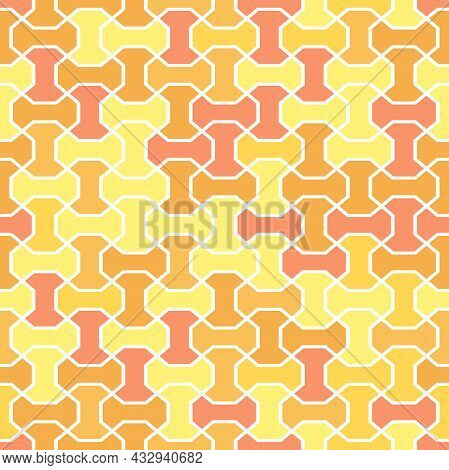 Seamless Background For Your Designs. Modern Vector Colored Ornament. Geometric Abstract Colored Pat