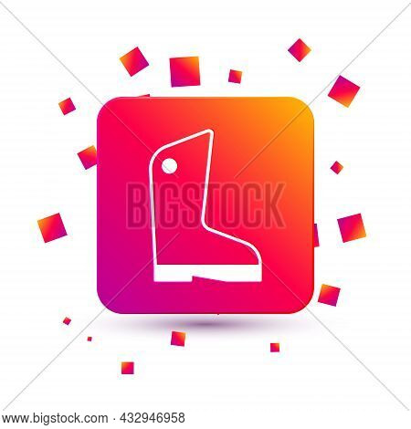 White Rubber Gloves Icon Isolated On White Background. Latex Hand Protection Sign. Housework Cleanin