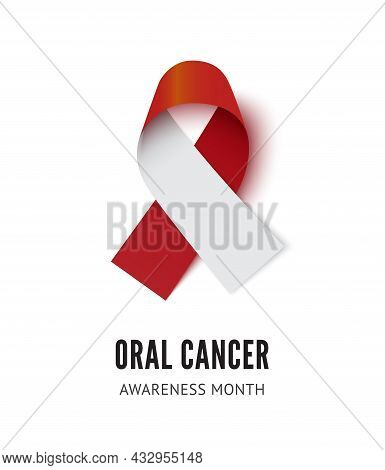 Oral Cancer Awareness Ribbon Vector Illustration Isolated