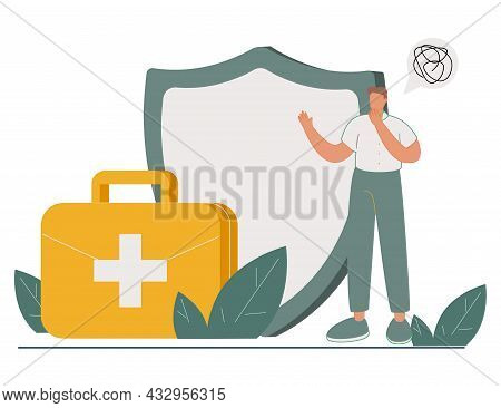 Employee Health Abstract Concept Vector Illustration. Emotional Burnout, Occupational Health, Workpl