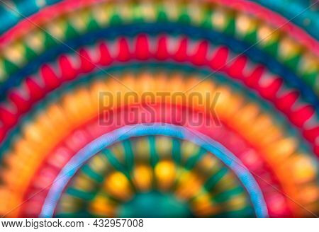 Abstract Colorful Background. Blurry Backdrop of a Bright Rainbow. Hippy Style Picture. Happiness Concept.