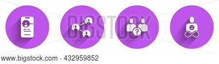 Set Dating App Online, Bff Or Best Friends Forever, Complicated Relationship And Friends Icon With L