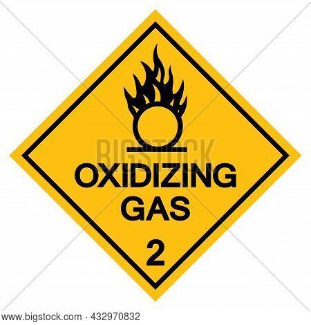 Oxidizing Gas Symbol Sign, Vector Illustration, Isolate On White Background, Label .eps10