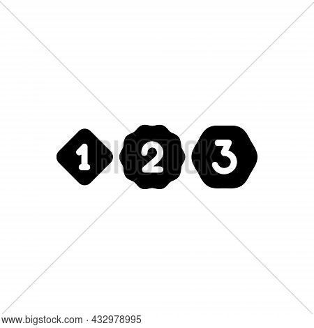 Black Solid Icon For Former One-time Prior Previous Numbers Ago Before Previously