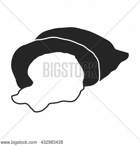 Agriculture Bag Of Flour Vector Icon.black Vector Icon Isolated On White Background Agriculture Bag