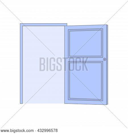 Cartoon Door. Door Icon Vector. Home Entrance