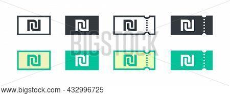 Israeli Shekel Money Sign. Israeli Shekel Coupon. Sign Of Payment By The Israeli Shekel. Vector Illu