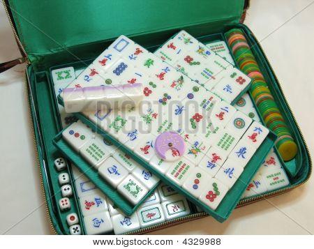 Chinese Mah Jong Game Set, Vintage