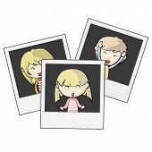 Photographed children on white background. Vector Design. poster