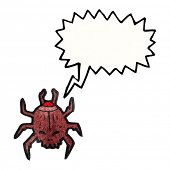 death watch beetle cartoon poster