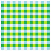 a checked pattern of green, lime green, light blue and light grey squares poster