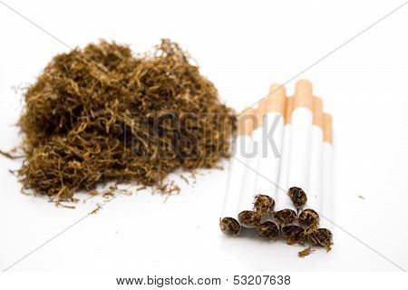 Cigarettes with darning tobacco