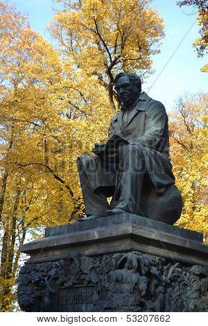 Krylov Monument In Summer Garden