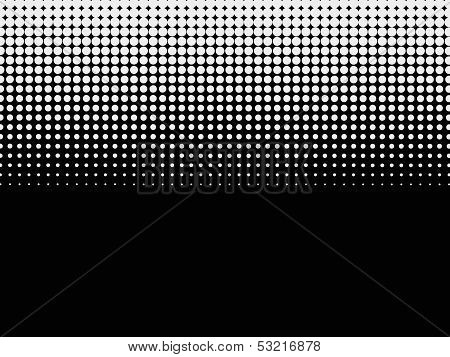 Halftone background. Black-white dotted pattern with copy space poster