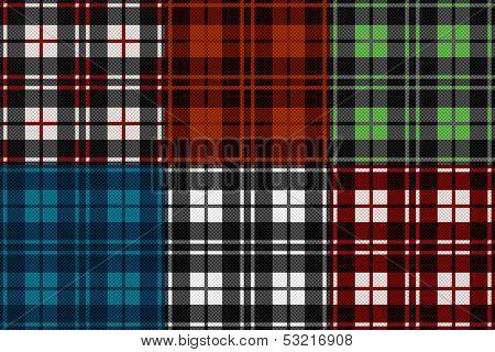Six Seamless Checkered Patterns