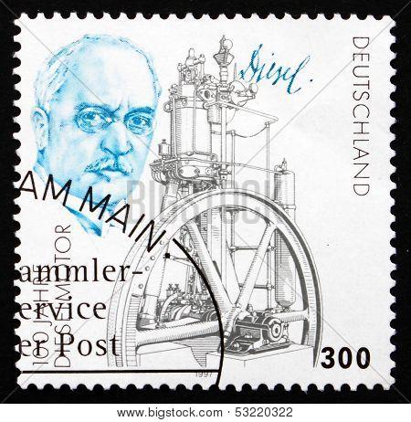 Postage Stamp Germany 1997 Rudolf Diesel And His Engine