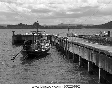 Fishing Boat And Pier