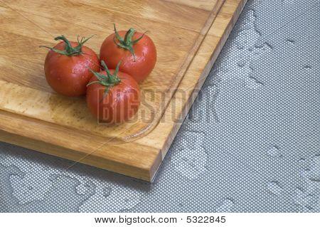 Three Fresh Tomatoes