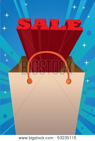 Red 3D Sale Message