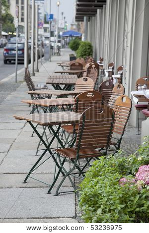 Cafe Terrace Table And Chairs, Berlin