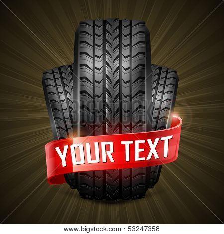 Rubber Tires & Ribbon
