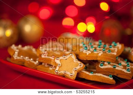 Gingerbread Decorated Stars