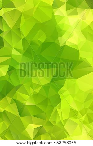 Green abstract background polygon. Geometric backdrop. This is file of EPS8 format. poster