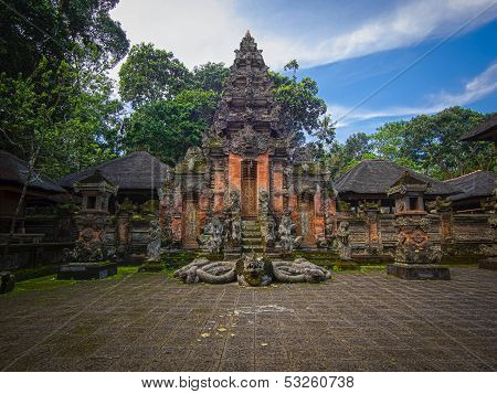 Hindu Temple at the Monkey Forest Sanctuary in Ubud, Bali