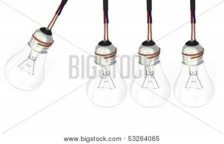 Four Light Bulbs