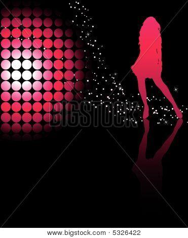 Girl Dancind Pink