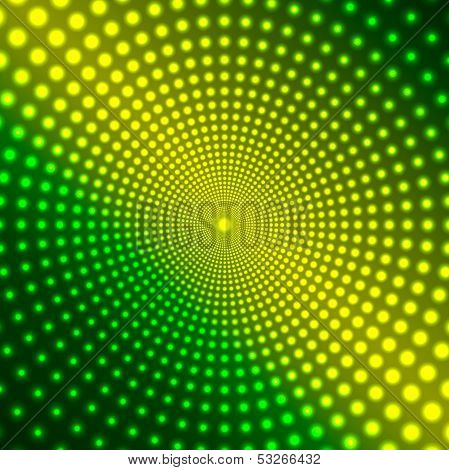 Abstract Background Of Shimmering Circles.luminous Design.neon Effect.vector