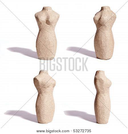 Stone Female Torso, Four Angles
