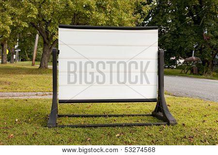 Neighborhood Blank Sign