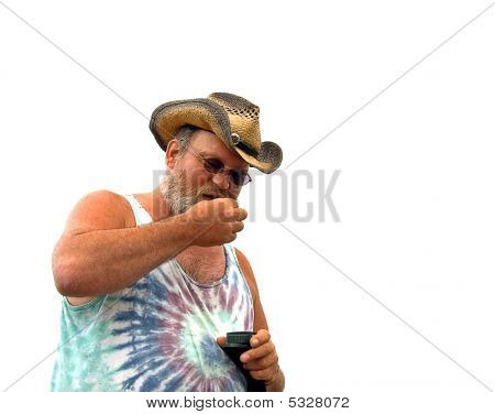 Middle Aged Man With Chewing Tobacco