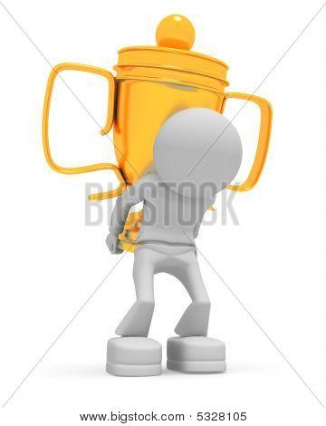Worker Keeps Cup