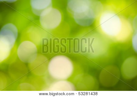 defocused light dot in summer, abstract nature background poster