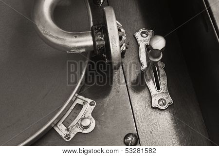 Vintage Gramophone Phonograph Closeup With Turntable and Needle III ** Note: Slight graininess, best at smaller sizes