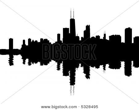 Chicago Skyline Reflected