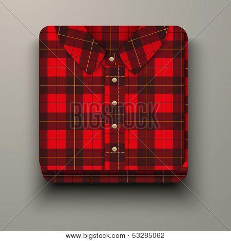 Premium Icon flannelette plaid shirt.