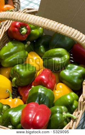 Basket Of Capsicums