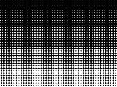 Halftone background. Black-white dotted background with copy space poster