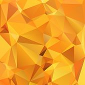 Abstract gold orange background polygon. Geometric backdrop. poster