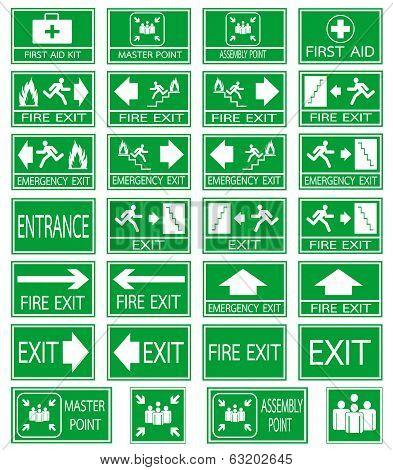 Safety  Emergency Sign